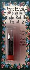 Retactable Pen Knife Blade Retills Package of 2 Blades