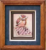 Owl Chess Paper Tole 3D Craft Kit size 4x5 7694