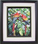 Red Parrots Paper Tole 3D Kit 8x10 by DSC